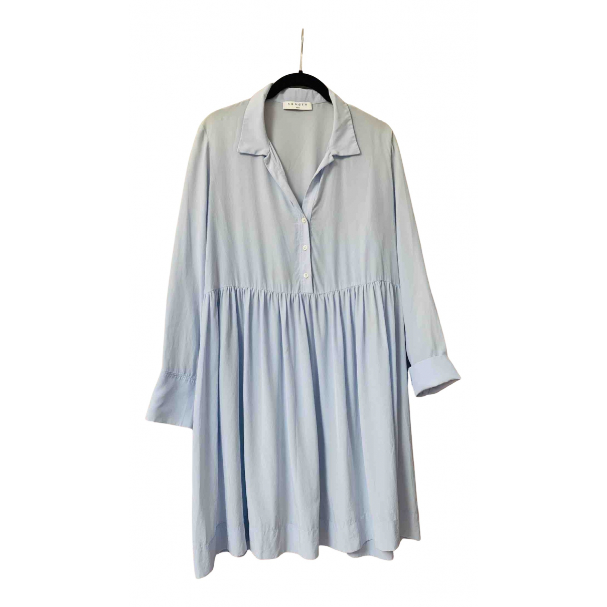 Sandro - Robe Spring Summer 2019 pour femme en soie - bleu