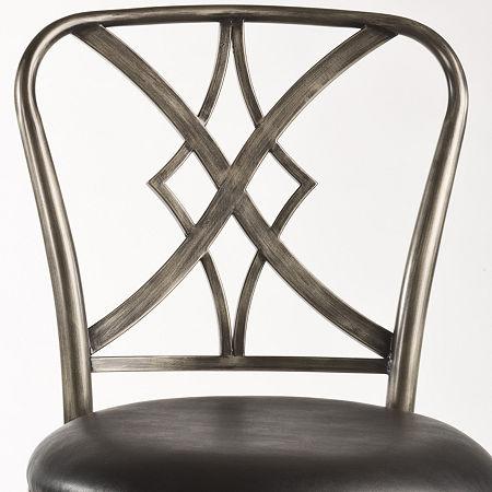 Richton Swivel Barstool with Back, One Size , Black