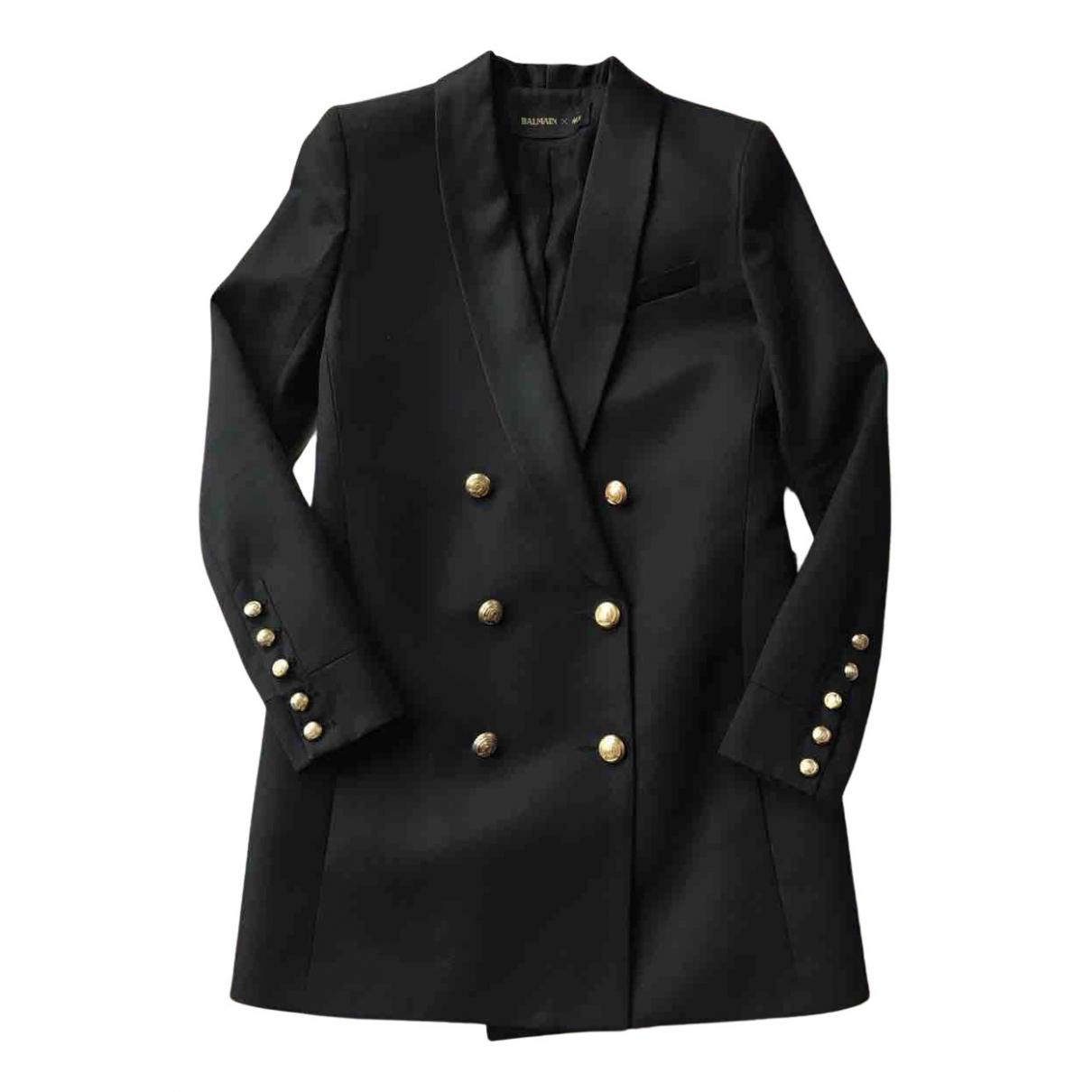 Balmain For H&m - Veste   pour femme en laine - noir