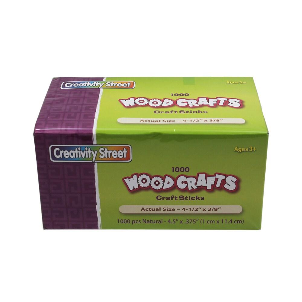 1000-piece Natural Craft Sticks (Pack of 2) (wooden)
