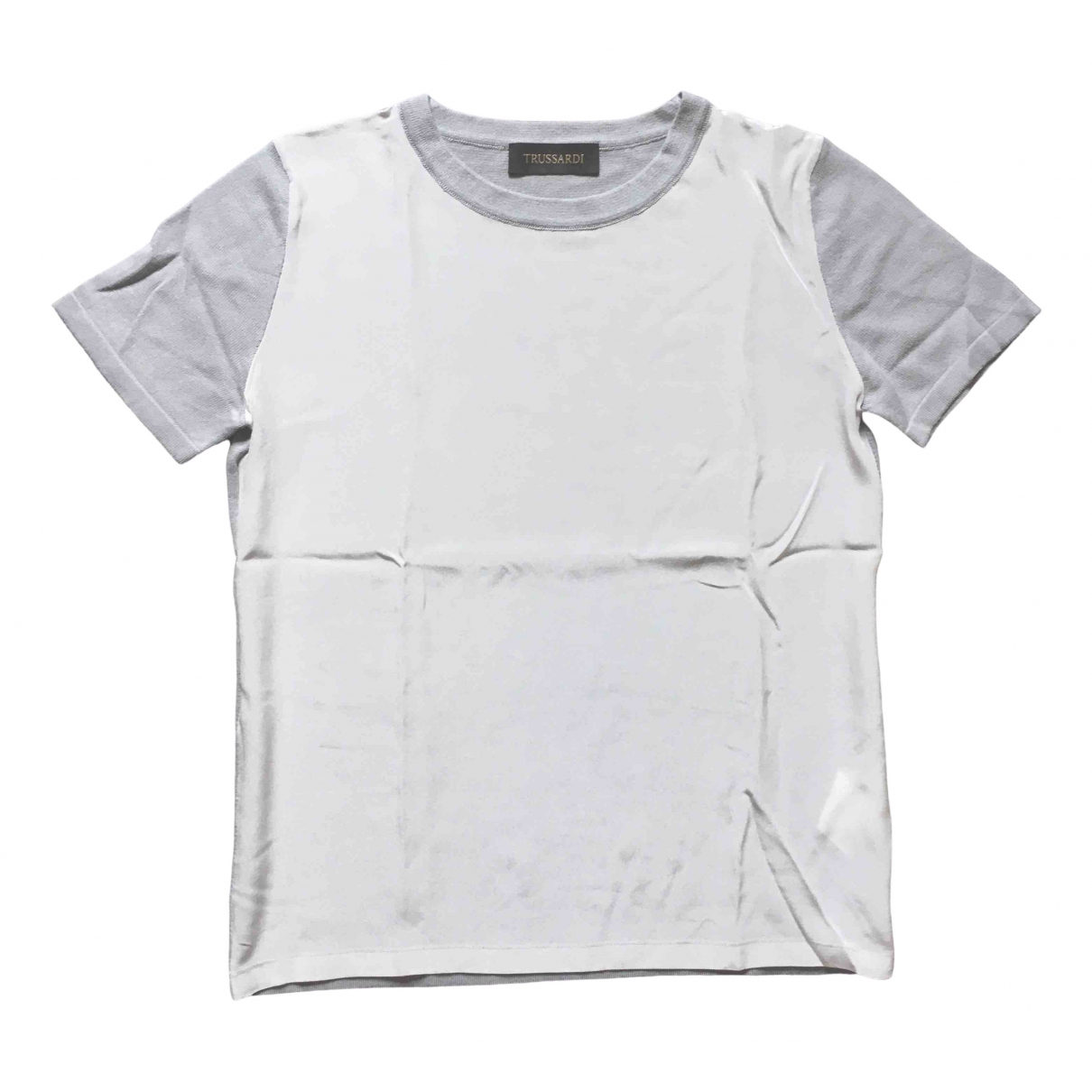 Trussardi - Top   pour femme en soie - gris