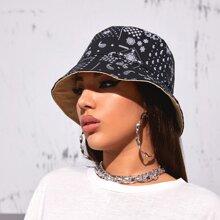 Paisley Pattern Reversible Bucket Hat