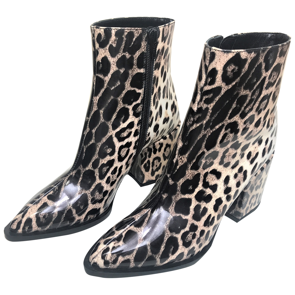 Mcq N Multicolour Patent leather Boots for Women 37 IT