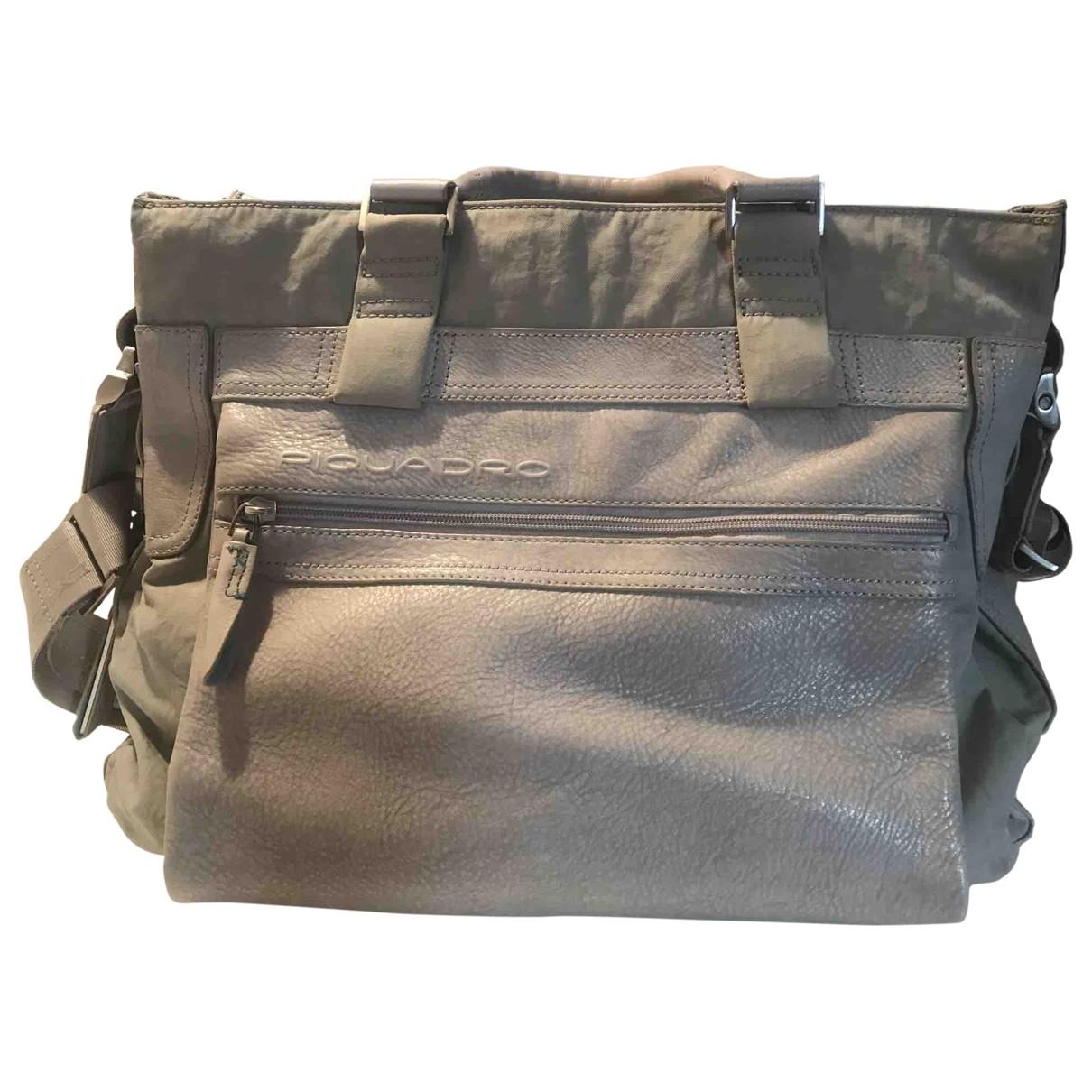 Non Signe / Unsigned \N Handtasche in  Grau Leinen