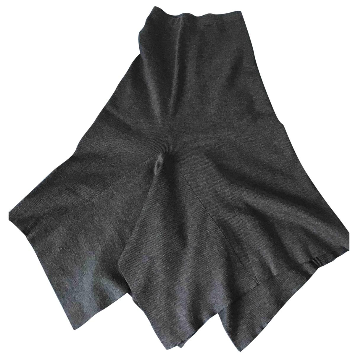 Sandro N Grey Wool dress for Women 36 FR