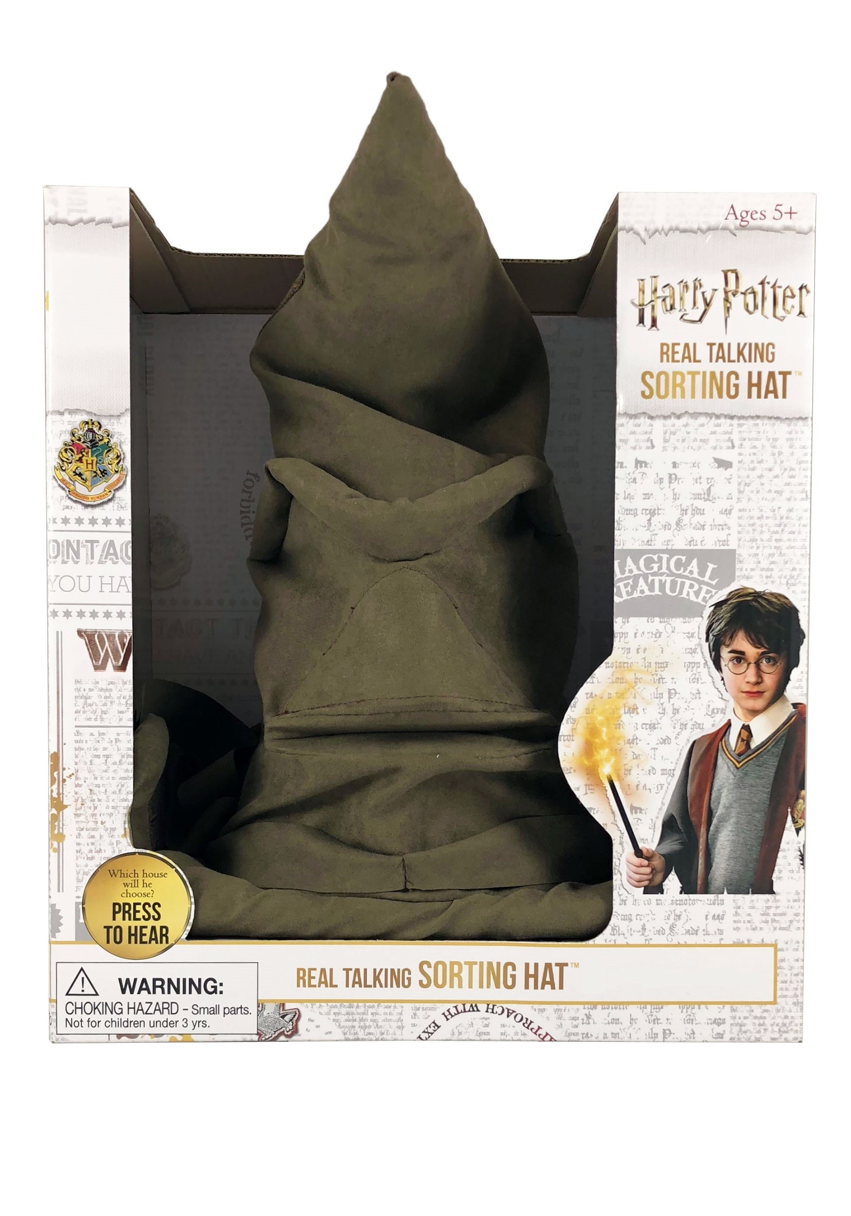 Harry Potter Real Talking Sorting Hat w/ Bonus Projector