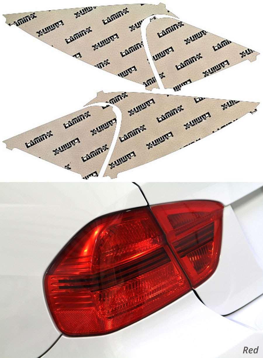 Nissan Versa Hatchback 07-11 Red Tail Light Covers Lamin-X N321R
