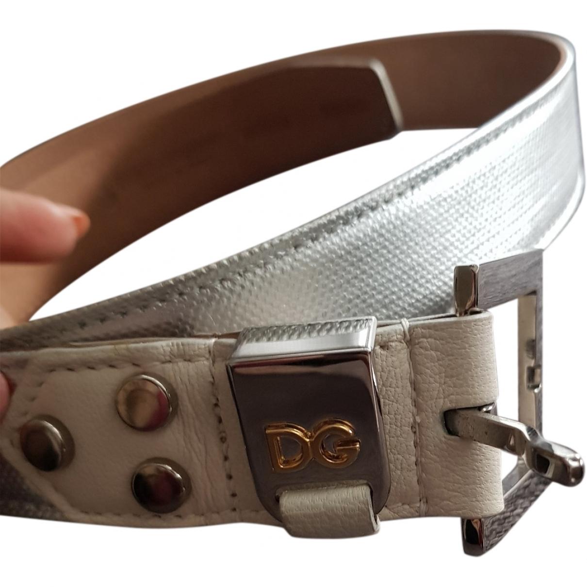 Dolce & Gabbana \N Silver Leather belt for Women M International