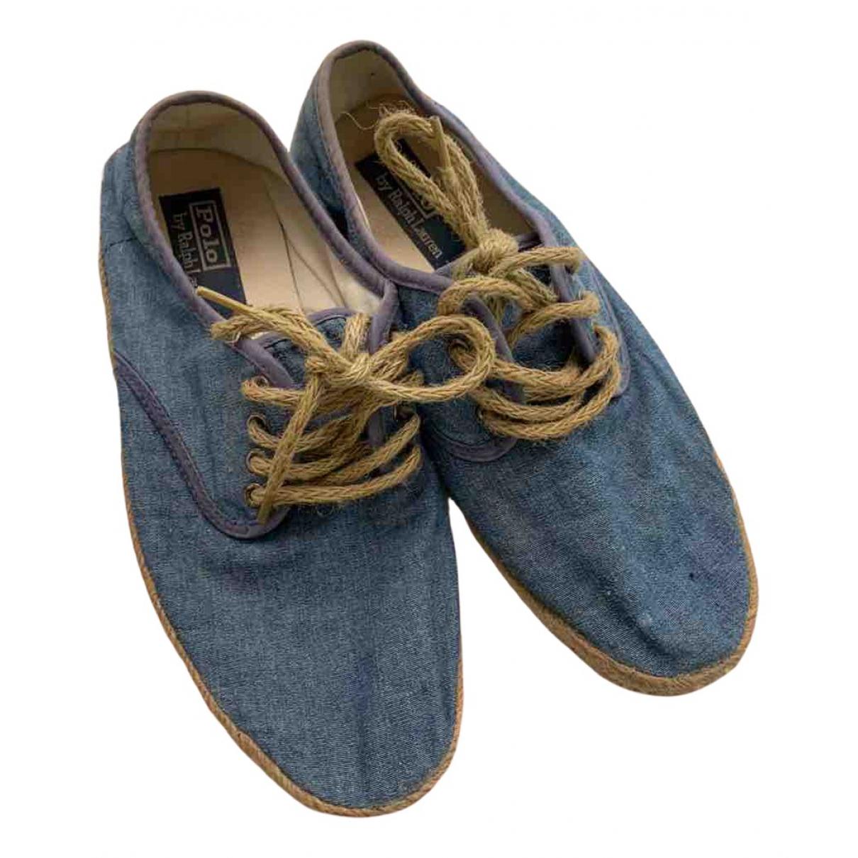 Polo Ralph Lauren \N Espadrilles in  Blau Leinen