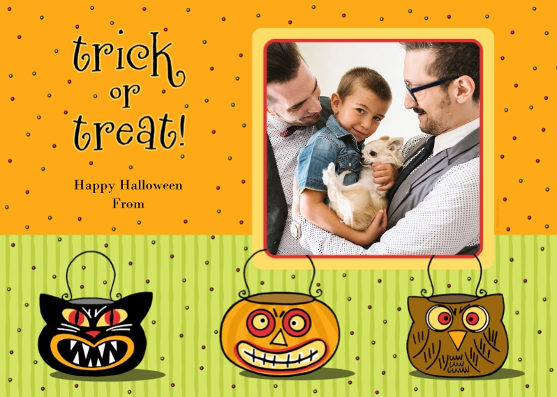 Halloween Photo Cards 5x7 Cards, Premium Cardstock 120lb, Card & Stationery -trick or treat!