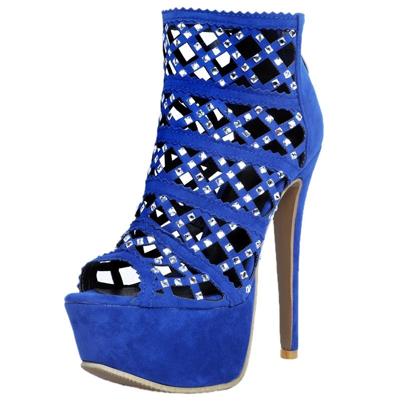 Ericdress Rhinestone Peep Toe Ultra-High Stiletto Sandals