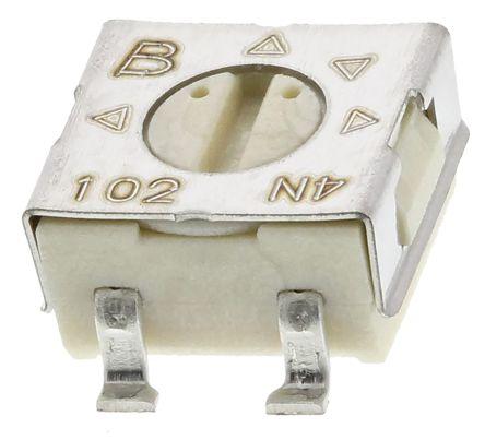 Bourns 1kΩ, SMD Trimmer Potentiometer 0.25W Top Adjust , 3314 (10)