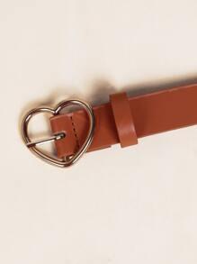 Kids Heart Design Buckle Belt