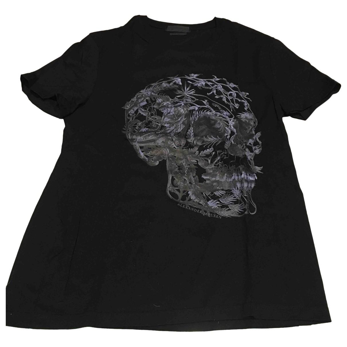 Alexander Mcqueen \N Black Cotton T-shirts for Men \N