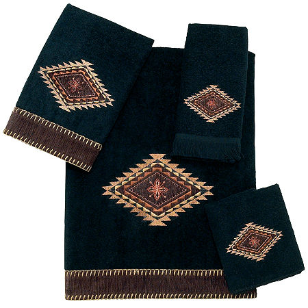 Avanti Mojave Bath Towel Collection, One Size , Black