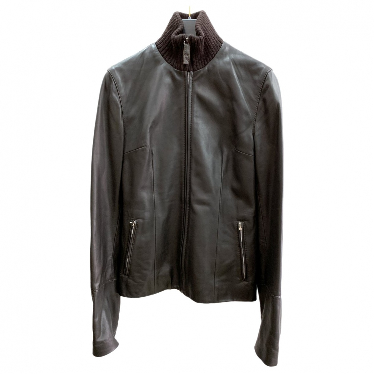 Dolce & Gabbana \N Black Leather Leather jacket for Women 40 IT