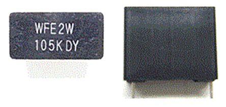 Panasonic 2.2μF Polypropylene Capacitor PP 450V dc ±10% Tolerance Through Hole EC Series (1000)