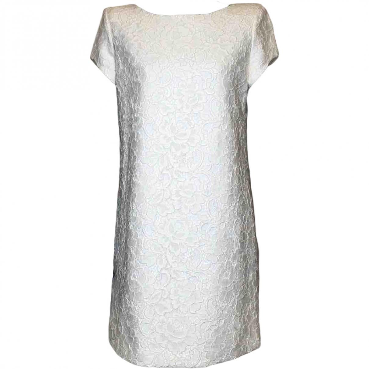 Saint Laurent \N Kleid in  Weiss Baumwolle