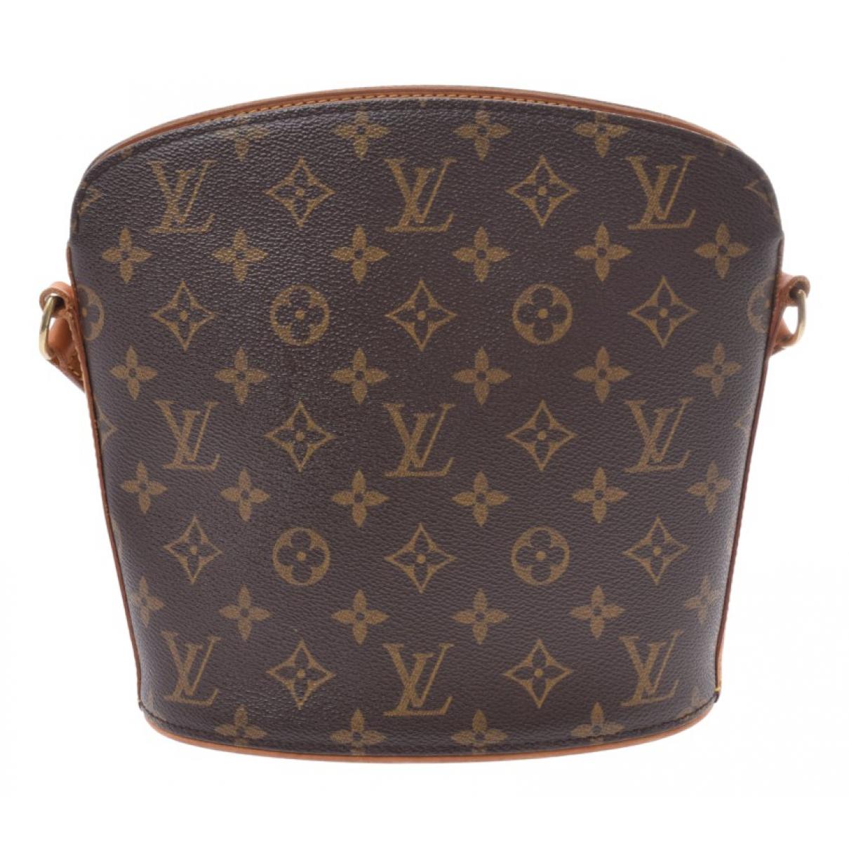 Louis Vuitton - Sac a main Drouot  pour femme en toile - marron