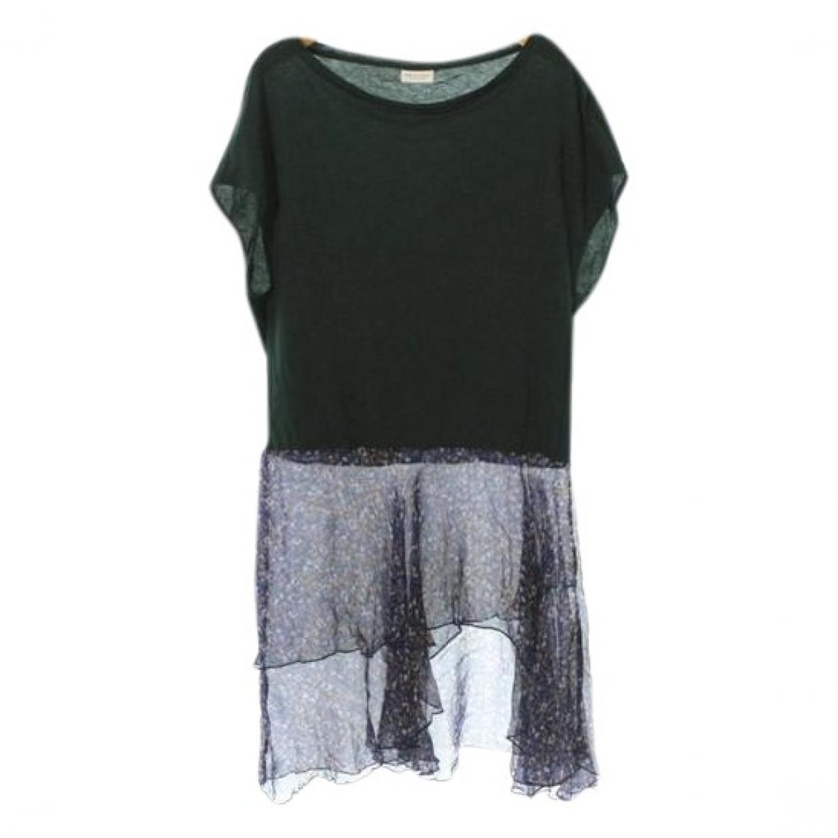 Dries Van Noten - Robe   pour femme en coton - vert
