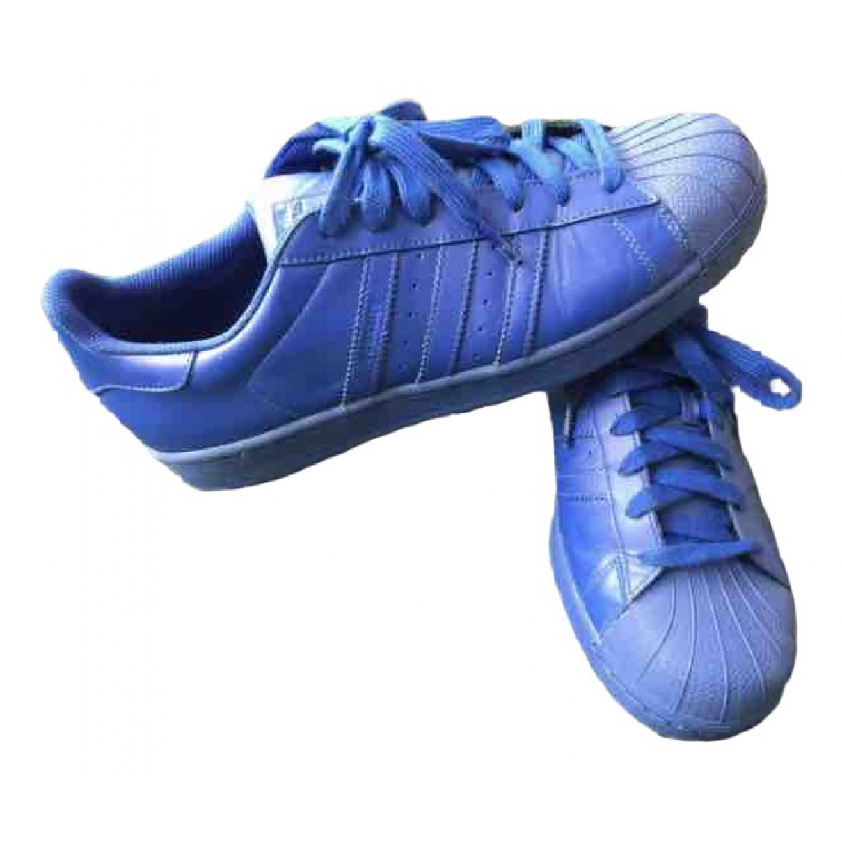 Adidas X Pharrell Williams \N Blue Leather Trainers for Men 44 EU