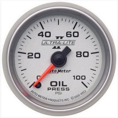 Auto Meter Ultra-Lite II Electric Oil Pressure Gauge - 4953