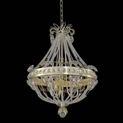 021250-035-FR001 Orleans 3-Light + LED Chandelier Style  120V in Champagne Silver Leaf