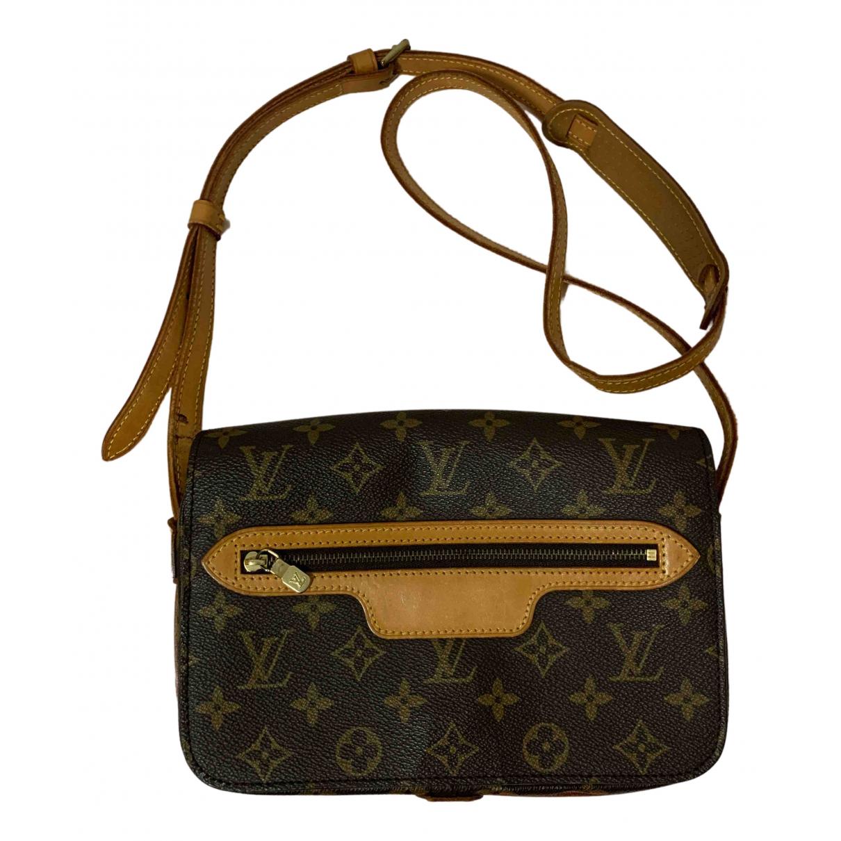 Louis Vuitton Saint-Germain Vintage  Handtasche in  Braun Leinen
