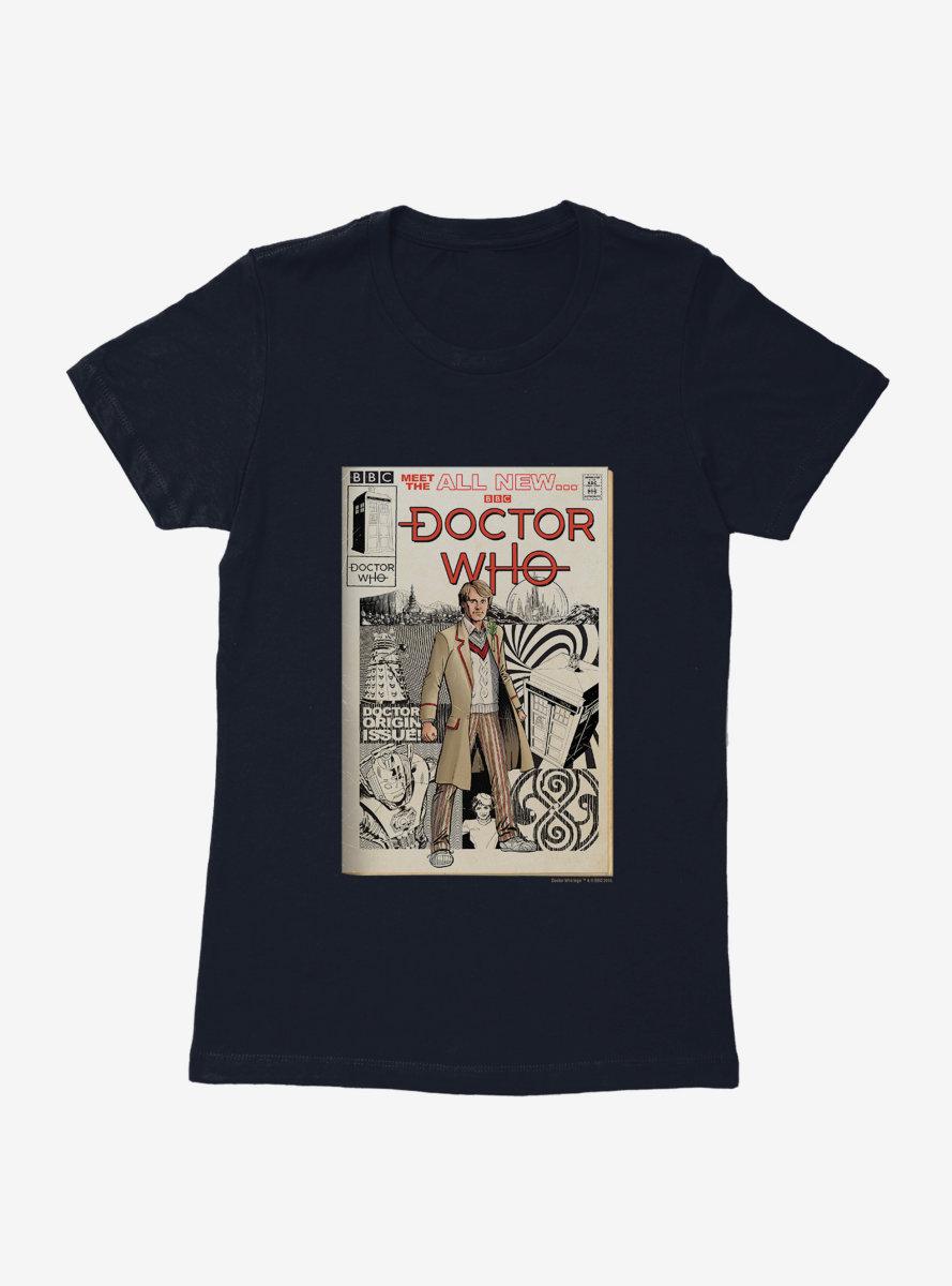Doctor Who Fifth Doctor Origin Comic Womens T-Shirt