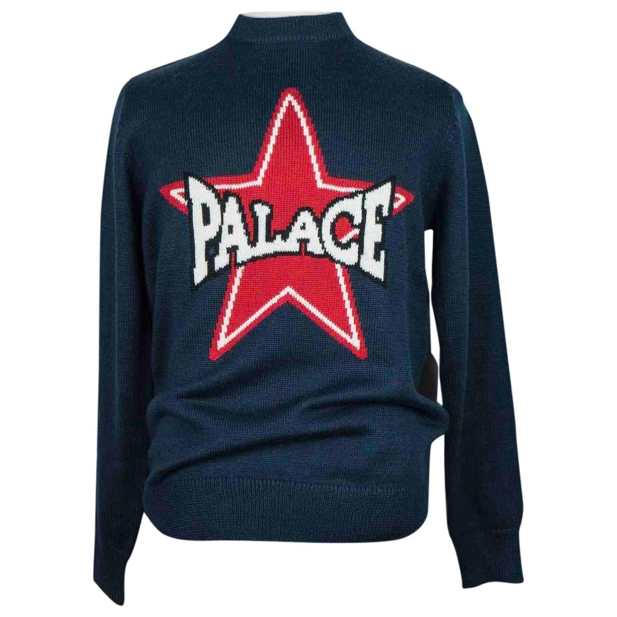 Palace \N Pullover.Westen.Sweatshirts  in  Blau Wolle