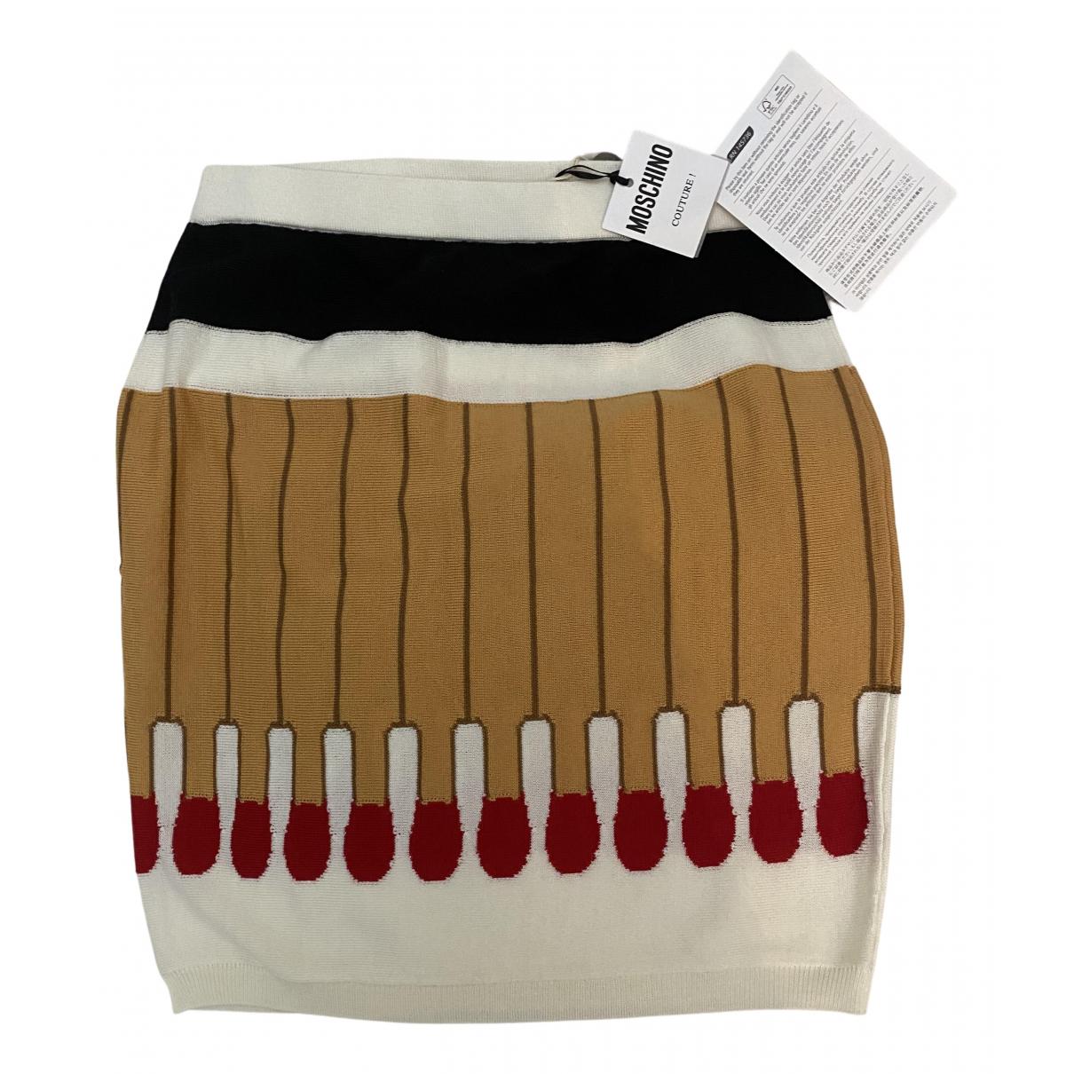 Moschino - Jupe   pour femme en laine - multicolore