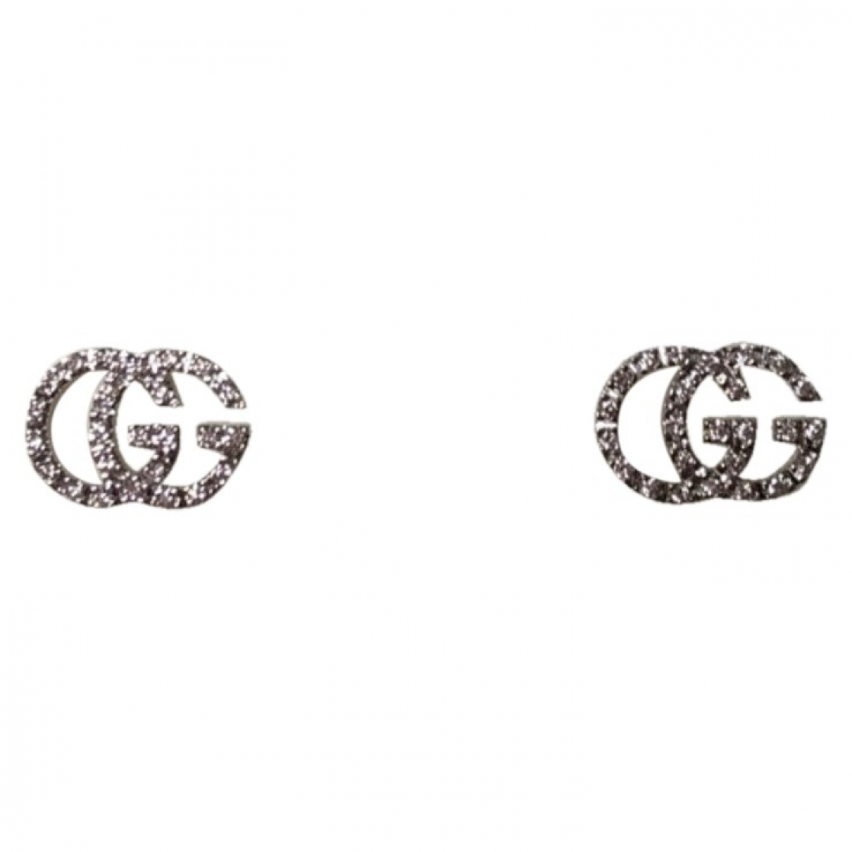 Gucci \N OhrRing in  Weiss Weissgold