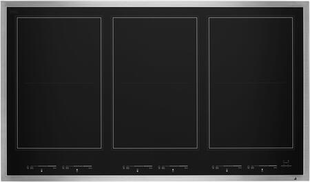 JIC4736HS Lustre 36 Induction Flex Cooktop with 6 Elements  Emotive Controls  Magnetic Induction  Griddle  in Stainless