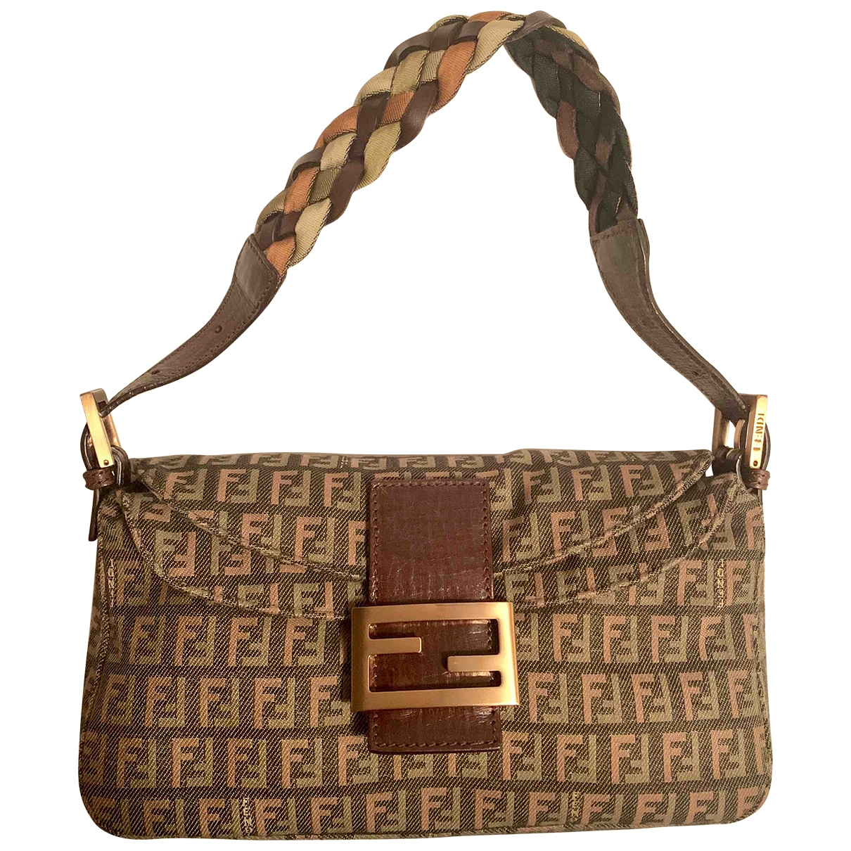Fendi Mamma Baguette  Brown Cloth handbag for Women \N