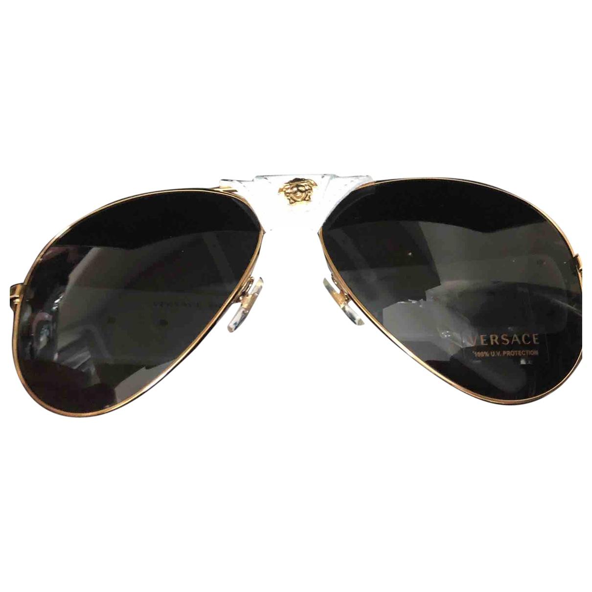 Versace Medusa White Sunglasses for Men \N