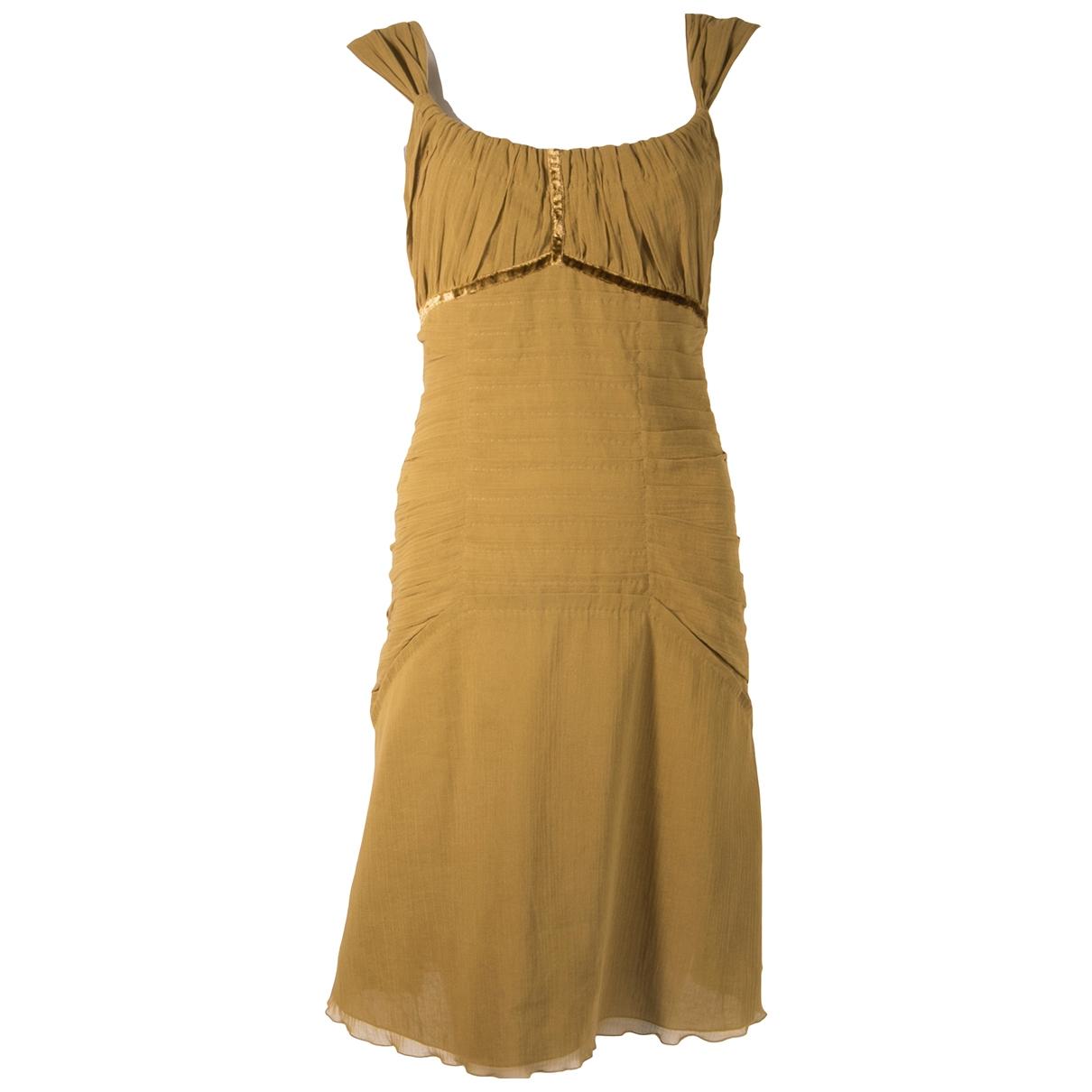 Louis Vuitton - Robe   pour femme en coton - kaki