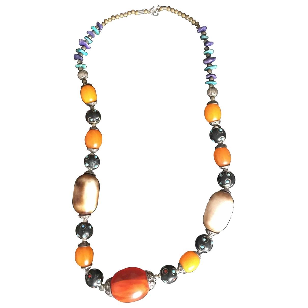 Collar largo Motifs Ethniques de Perlas Non Signe / Unsigned