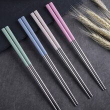 4pairs Stainless Steel Chopstick