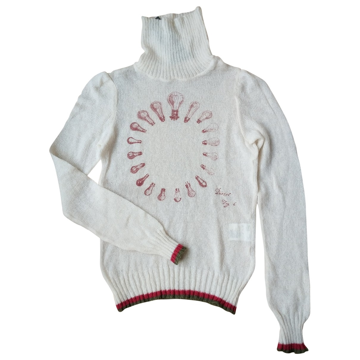 Diesel \N White Wool Knitwear for Women 44 IT