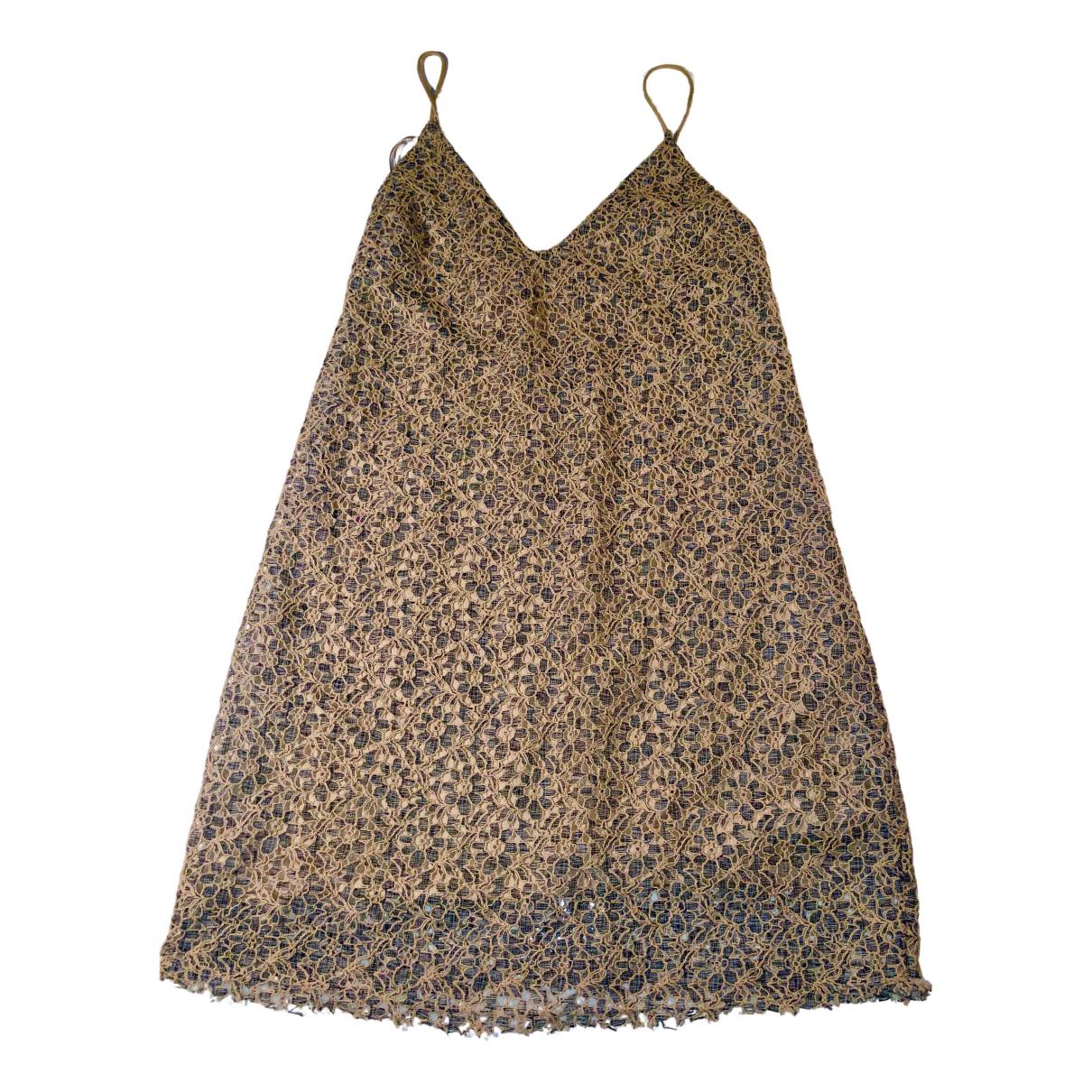 Zara N Beige Lace dress for Women 32 FR