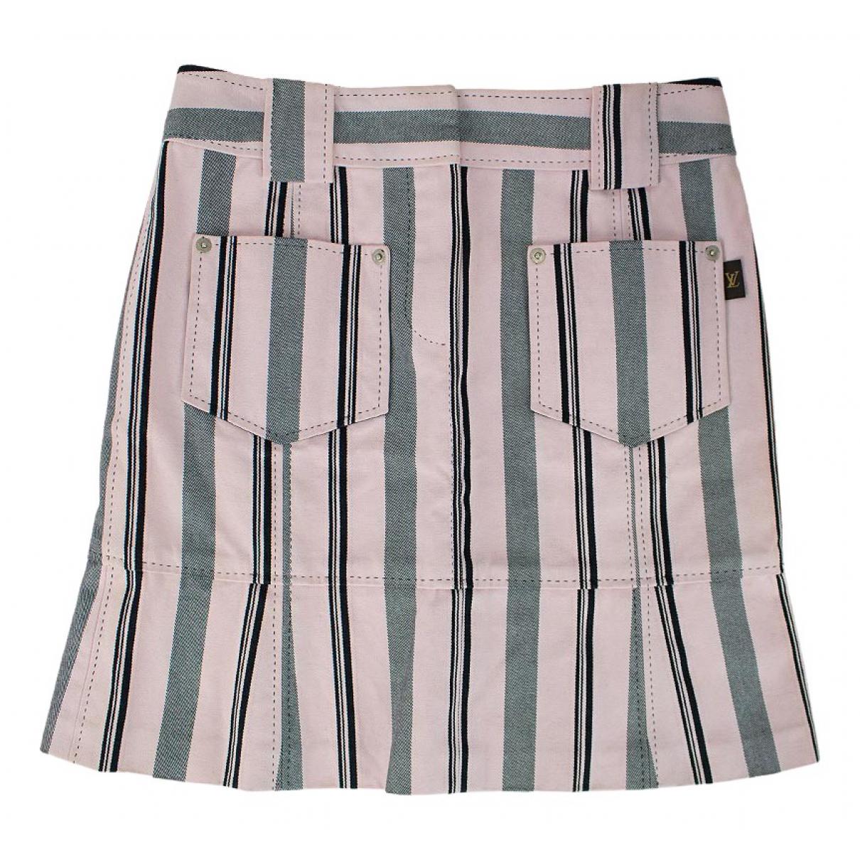 Louis Vuitton - Jupe   pour femme en coton - multicolore