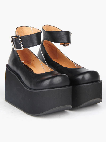 Milanoo Round Toe Platform Ankle Strap Lolita Shoes