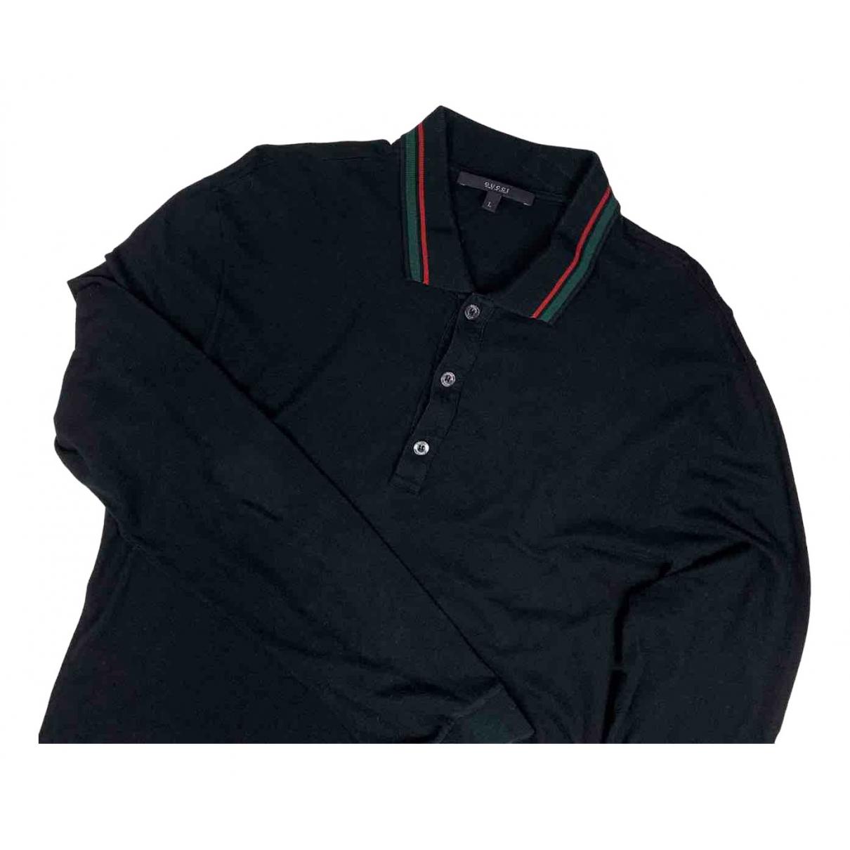 Gucci \N Poloshirts in  Schwarz Baumwolle