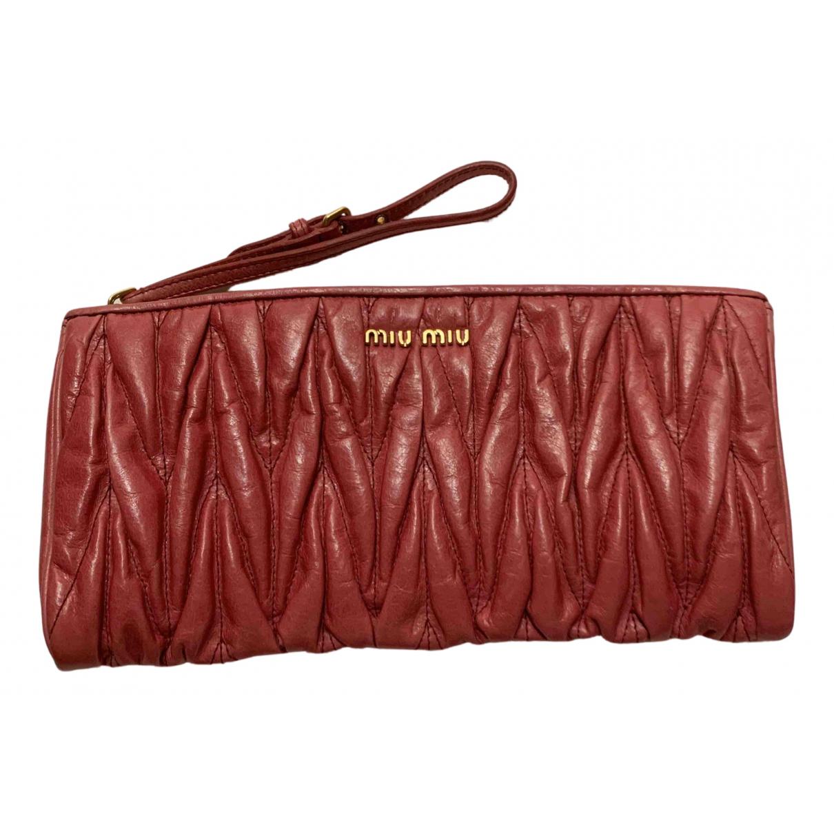 Miu Miu N Red Leather Clutch bag for Women N