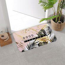 Plant Print Door Mat