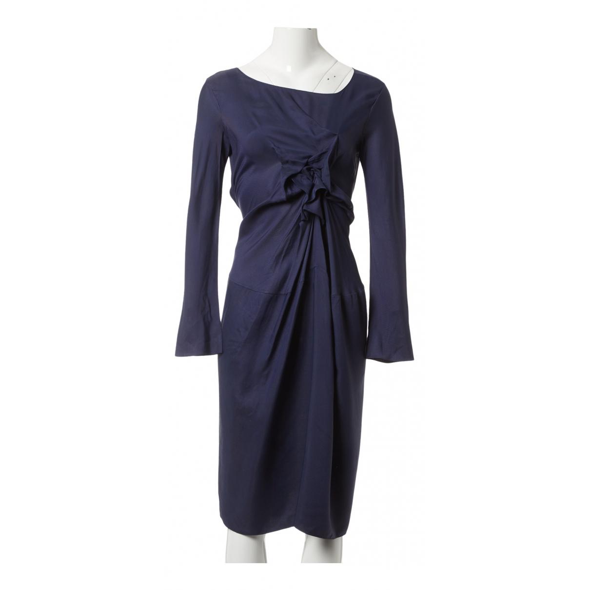 Marni \N Kleid in  Marine Viskose