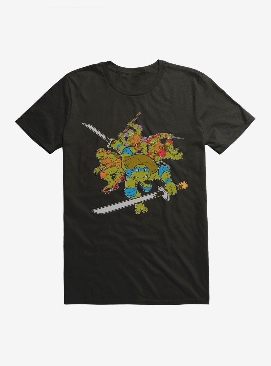Teenage Mutant Ninja Turtles Group Weapons Pose T-Shirt