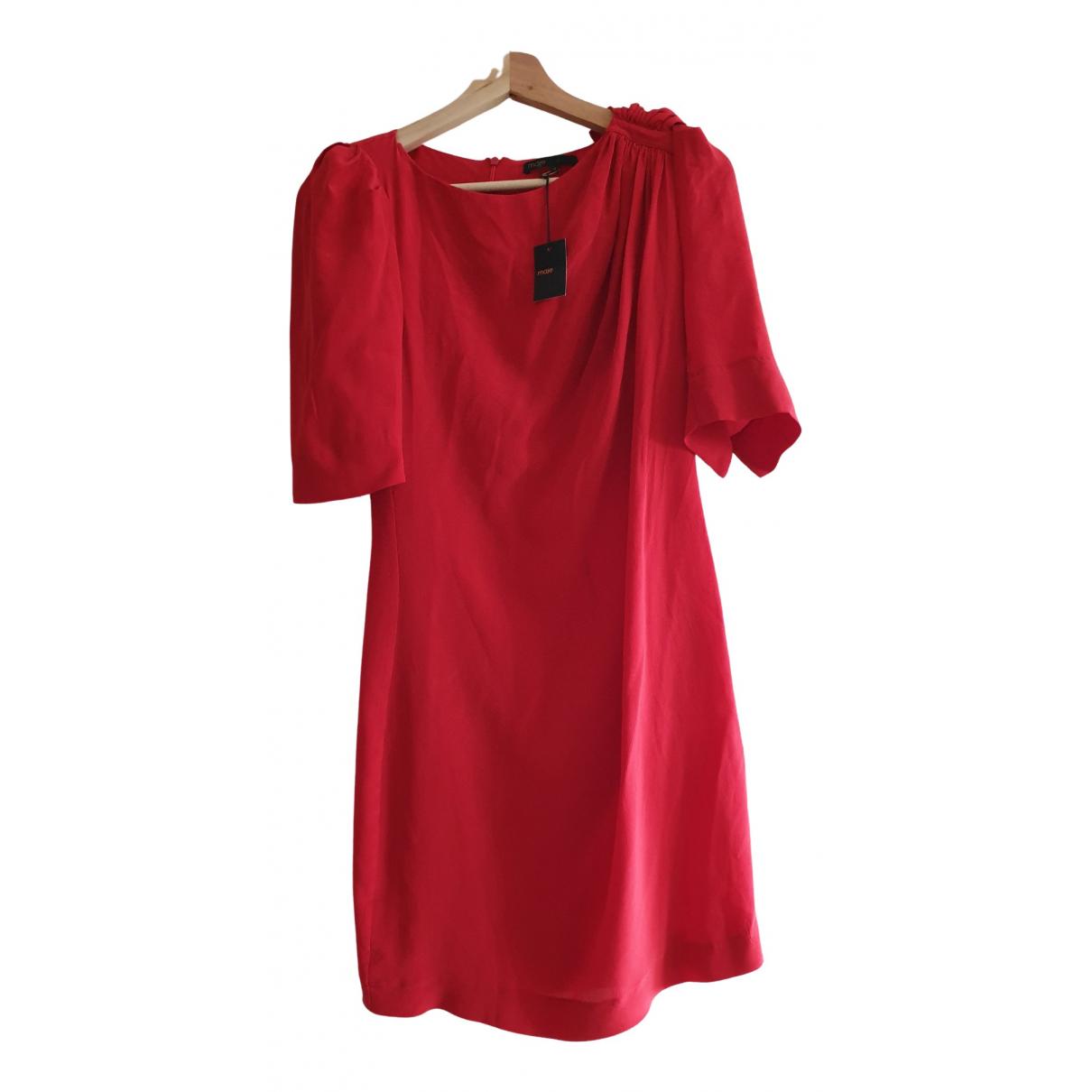 Maje \N Kleid in  Rot Seide