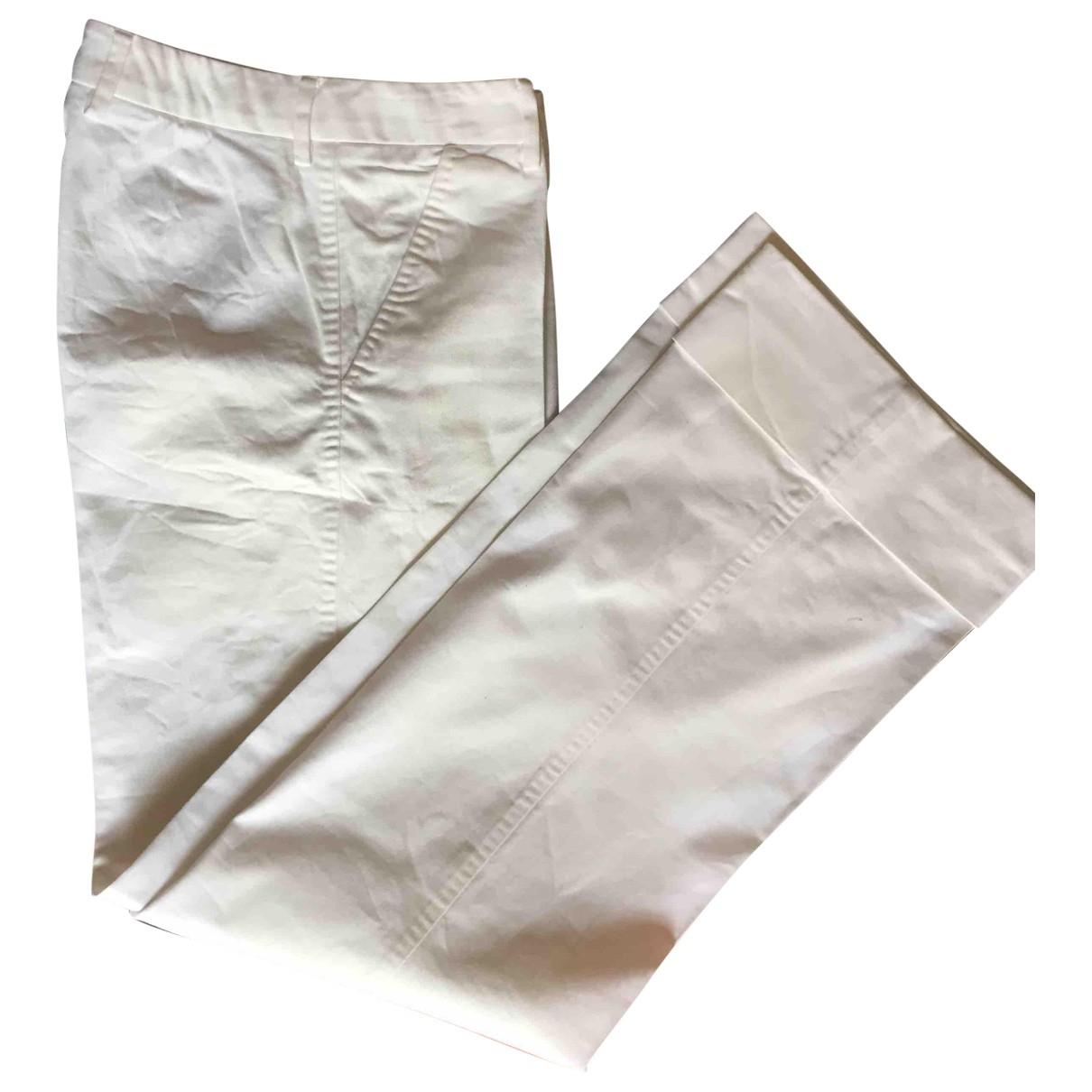 Dolce & Gabbana - Pantalon   pour femme en coton - blanc