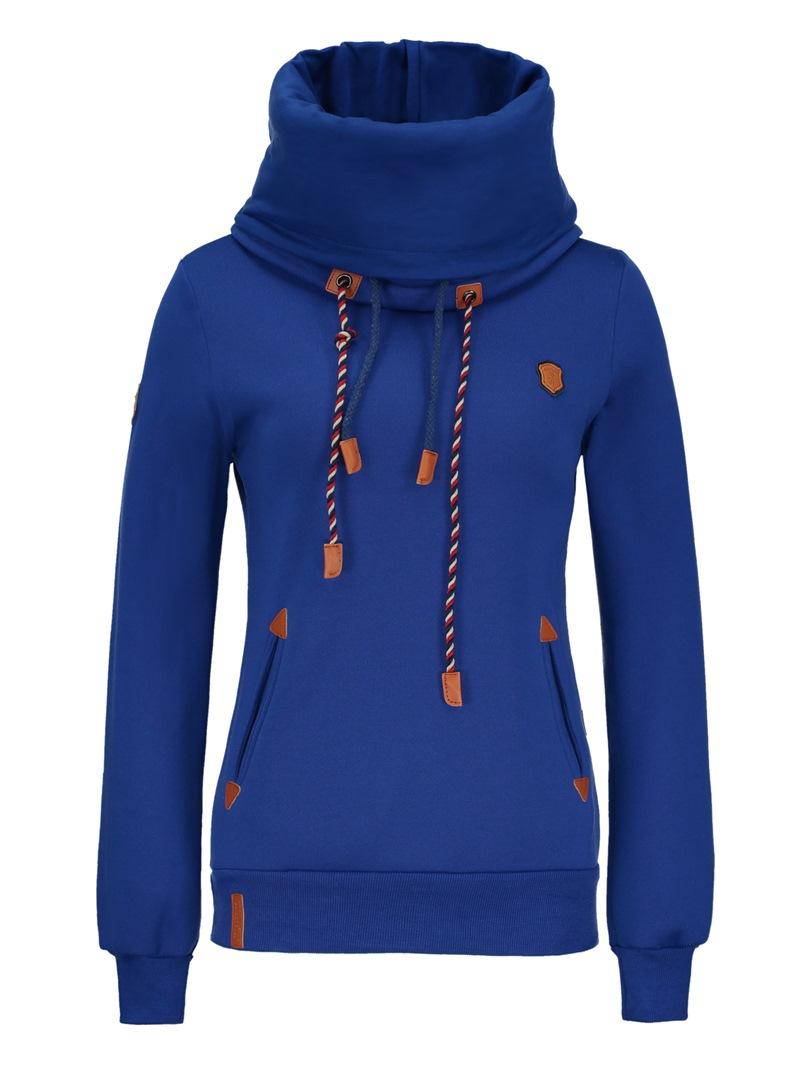 Ericdress Plain Slim Turtleneck Sweatshirt